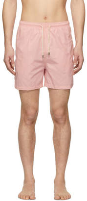 Solid and Striped Pink Classic Solid Swim Shorts