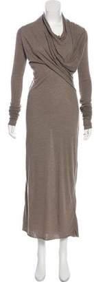 Rick Owens Lilies Long Sleeve Maxi Dress