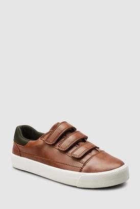 Next Boys Tan Triple Strap Shoes (Older)