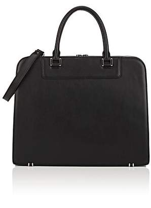 Barneys New York MEN'S LEATHER BRIEFCASE - BLACK