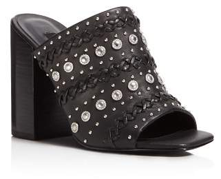 Senso Niko Embellished High-Heel Slide Sandals