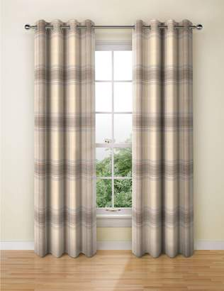 Marks and Spencer Blain Checked Eyelet Curtains