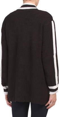 Striped Varsity Cardigan