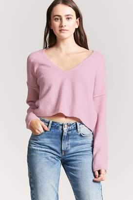 Forever 21 V-Neck Crop Sweater