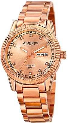 Akribos XXIV Women's 'Polished Finish Alloy Case' Quartz Stainless Steel Casual Watch