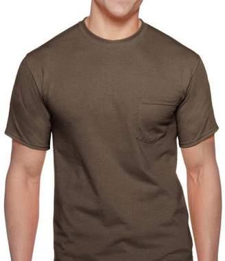 Gildan Men's DryBlend Workwear Short Sleeve Pocket Tee, 2-Pack