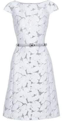 Michael Kors Belted Brocade Dress