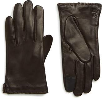 Frye Nora Whipstitch Lambskin Leather Touchscreen Gloves