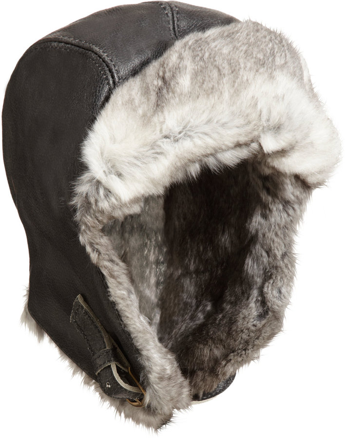 Paul Leinburd by Crown Cap Fur Lined Aviator Hat