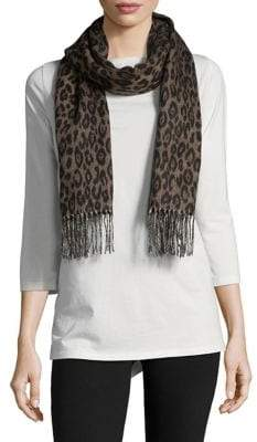 Lord & Taylor Printed Fringe Scarf
