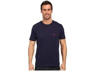 U.S. Polo Assn. Solid Crew Neck Pocket T-Shirt Men's Short Sleeve Pullover