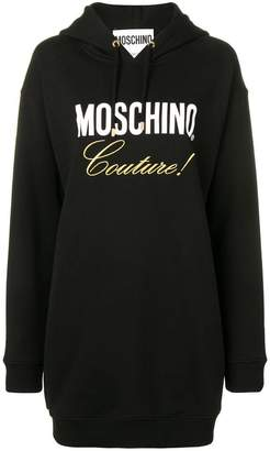 Moschino embroidered hoodie dress