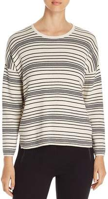 Eileen Fisher Striped Organic Cotton Sweater