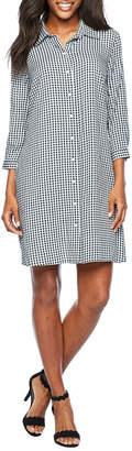 MSK 3/4 Sleeve Shirt Dress