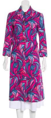 Dolce & Gabbana Long Abstract Print Coat