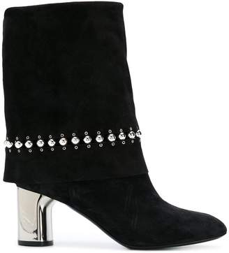 Casadei studded foldover boots
