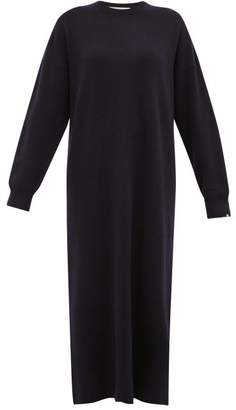 Extreme Cashmere - No. 106 Weird Stretch Cashmere Sweater Dress - Womens - Navy