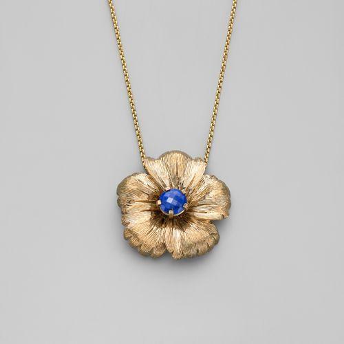 Stephen Dweck Bronze Flower Pendant