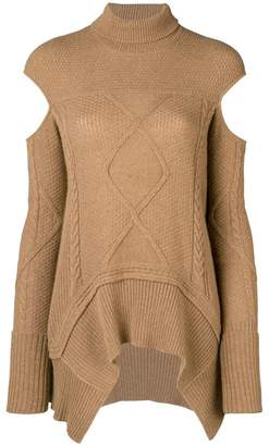 Roberto Cavalli cut out detail jumper