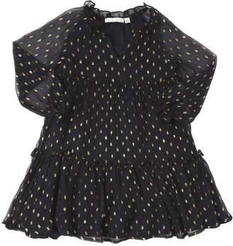 Stella McCartney Lurex Details Georgette Party Dress