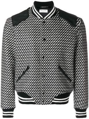 Saint Laurent Teddy bomber jacket