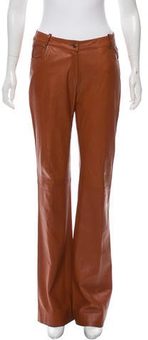 Christian Dior Leather Flared Pants