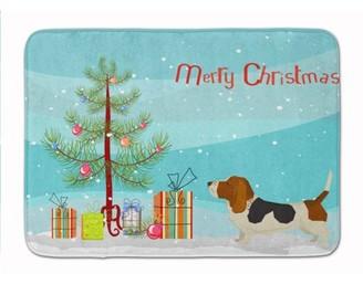 Caroline's Treasures Basset Hound Christmas Tree Machine Washable Memory Foam Mat