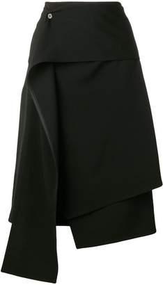 Ports 1961 high-rise midi skirt