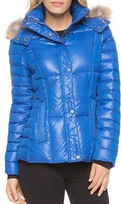 Andrew Marc Aubrey Fur Trim Short Puffer Coat