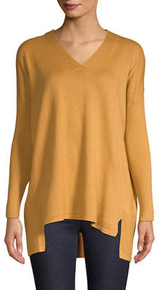 Style&Co. STYLE & CO. Petite Long-Sleeve Ribbed Sweater