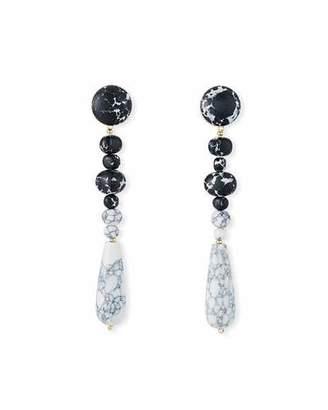 Lele Sadoughi Copacabana Earrings, Black/White
