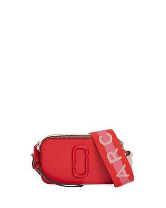 Marc Jacobs Snapshot Dual-Tone Leather Crossbody Camera Bag