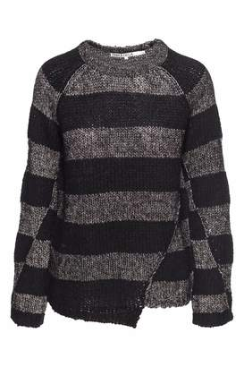 Pam & Gela Metallic Stripe Sweater
