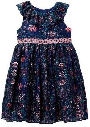 Laura Ashley Floral Lace Dress (Toddler Girls & Little Girls)