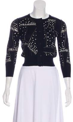 Oscar de la Renta Cashmere and Silk-Blend Cardigan