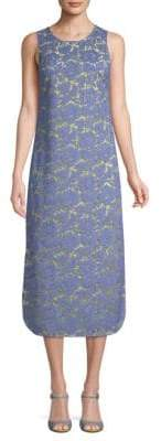 Valentino Two-Tone Lace Midi Dress
