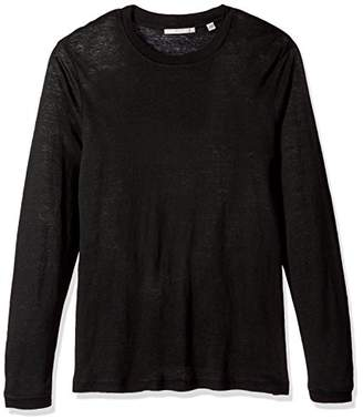 Vince Men's Sweater Trim Long Sleeve Crew Shirt