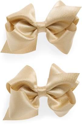PLH Bows 2-Pack Sparkle Hair Clips