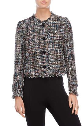 Bagatelle Fringe Tweed Jacket