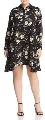 Glamorous CURVY Floral Shirt Dress