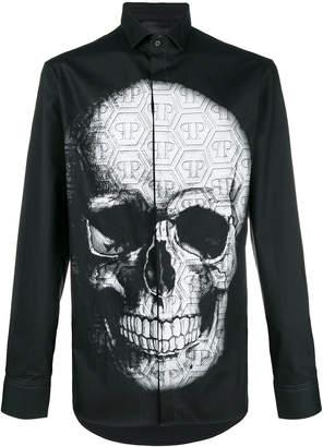 Philipp Plein skull print shirt