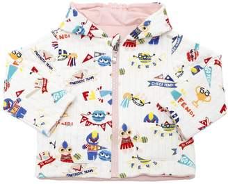 Fendi Reversible Hooded Jersey Sweatshirt
