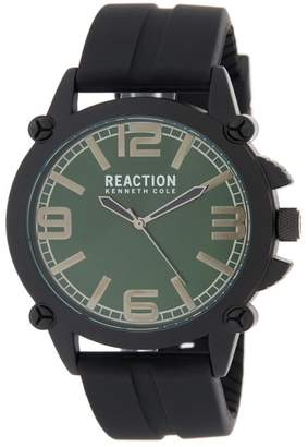 Kenneth Cole Reaction Men's Green 3 Hand Watch, 49MM