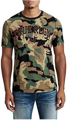 True Religion MENS CAMO LOGO GRAPHIC TEE