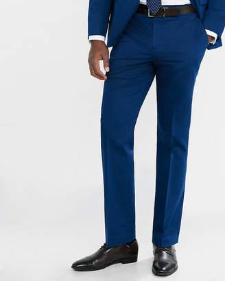 Express Classic Blue Cotton Sateen Suit Pant