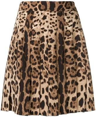 Dolce & Gabbana leopard print mini skirt
