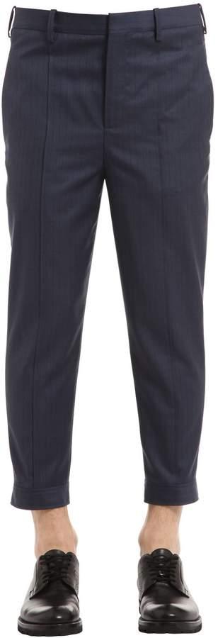 Neil Barrett Pinstriped Wool Gabardine Pants