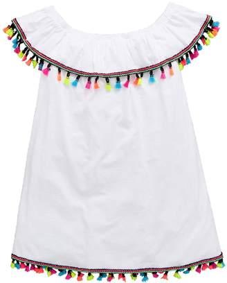 Very Girls White Bardot Tassel Dress
