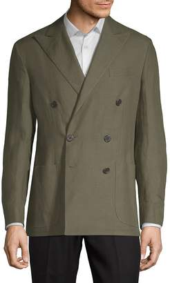 Ralph Lauren Men's Double-Breasted Linen Sport Coat