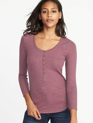 Old Navy Slim-Fit Rib-Knit Henley for Women